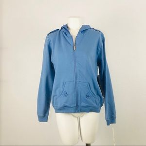 Vintage Oleg Cassini Sport Blue zip up sweater SM
